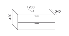 vanity unit for glas console plate